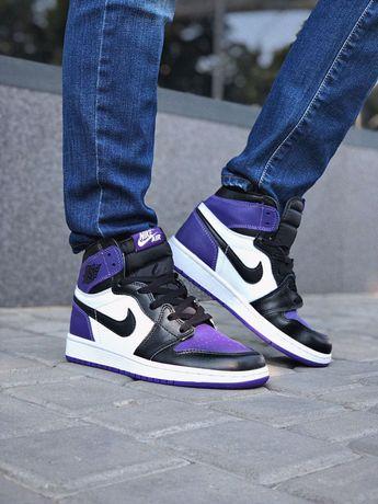 Кроссовки Nike Air Jordan 1 retro High Purple! 36-45!