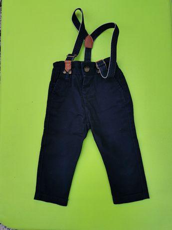 Spodnie na szelkach r. 68-74