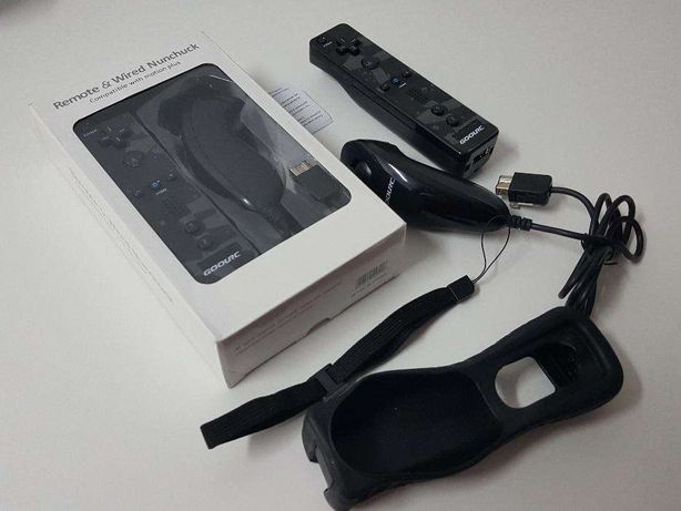 R539 Comando Wii Motion Plus + Nunchuk + Capa + Fita Preto