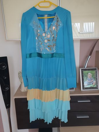Sukienka płaszczyk a la Elisabetta Franchi L/XL