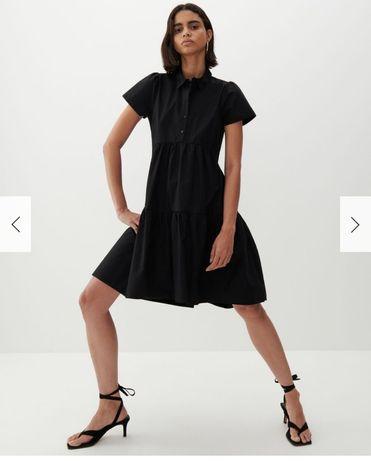 Sukienka czarna z bawełny organicznej Reserved rozm.46