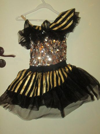 strój tancerki na konkurs taneczny na 140-150 cm - nowy