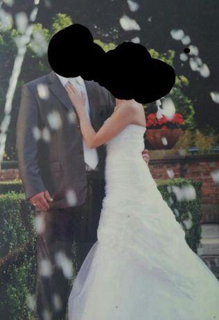 Sprzedam suknię ślubną rozmiar 36 wzrost 164 cm.