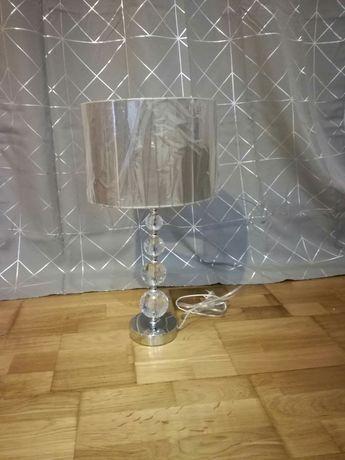 LAMPA stołowa RELAXDAYS kryształowa SREBRNA