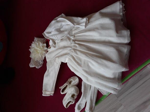 ubranko do chrztu dla dziewczynki r. 62 cool club , le baby i inne