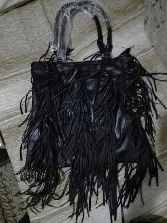 Torebka duza czarna