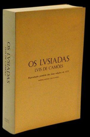 Os Lusíadas - Luís de Camões -reprodução paralela duas edições de 1572