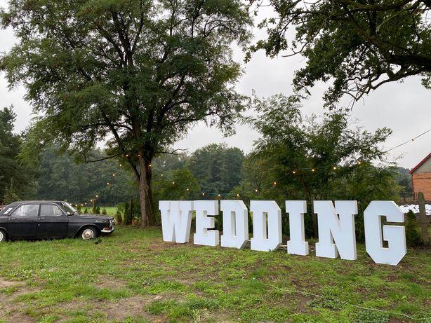 Kolorowy napis WEDDING/ślub/plener/wesele