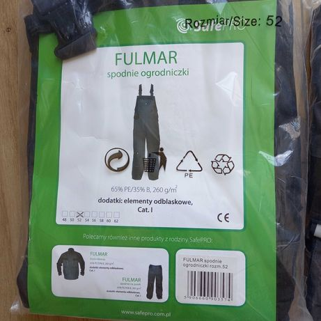robocze spodnie ogrodniczki FULMAR rozmiar 52
