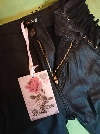 Spodnie eko skóra re-dress jeans