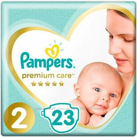 Подгузники Pampers Premium Care размер 2, 4-8 кг, 23 шт .