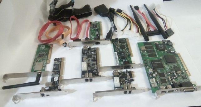 Сетевая,кабель,lan,WI-FI,zif,molex 6.8pin,displayport,firewire,sata