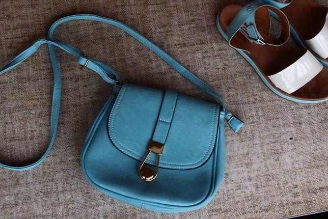 Новая, сумка, голубая, кросс боди, на лето, голуба