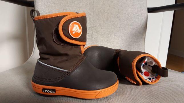 Сапожки Crocs C6 12 13 13,5 см стелька демисезон непромокаемые чоботи