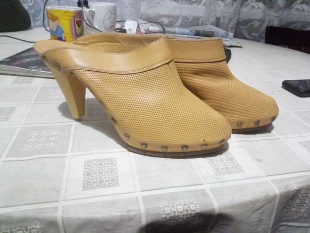 Туфли летние,кожаные