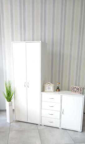Szafa HIERRO szafy regał biały półki