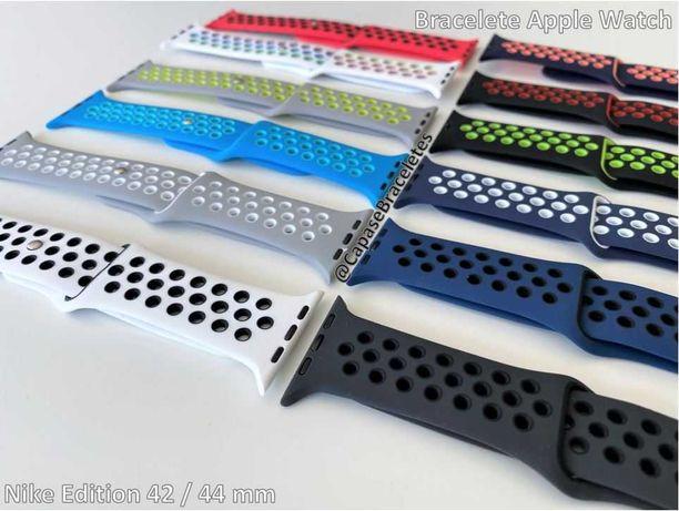 Braceletes silicone com furos para Apple Watch