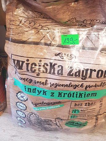 Karma Wiejska Zagroda 9kg indyk z królikiem