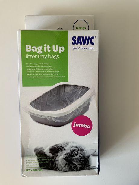 Sacos SAVIC Bag it up para liteira SAVIC Nestor Jumbo para gatos