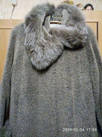 Пальто зимнее лама р.50-52
