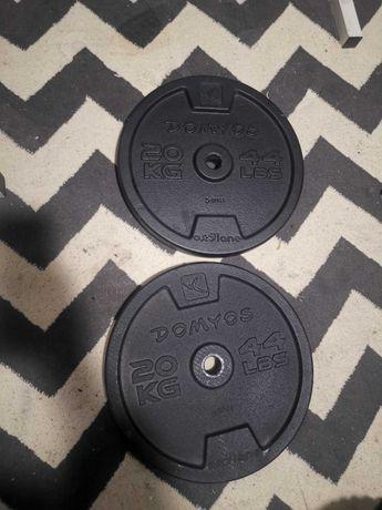 Obciążenie żeliwne 40kg - 2 x 20 kg