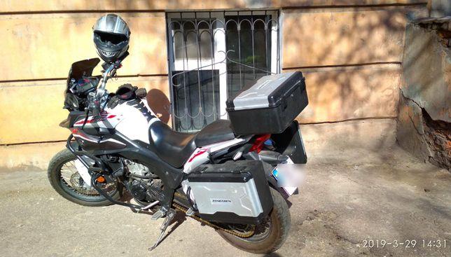 ZONGSHEN RX3 ZS250GY-3 , Мотоцикл, мот Зонгшен с кофрами дугами