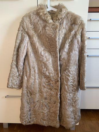 Futro płaszcz z kozy S vintage