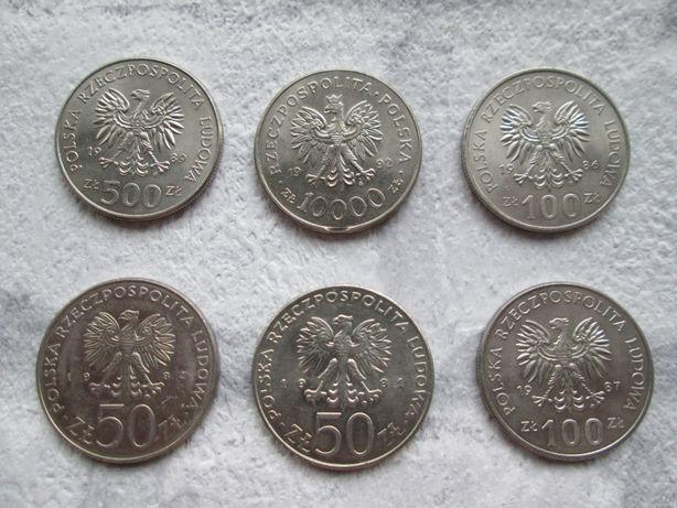 Monety PRL*Krolowie Polski*Obiegowe*Lata 1986/92*6 szt*Stan idealny*