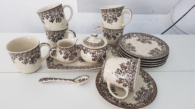 Zestaw śniadaniowy 6 osoby ceramika Bolesławiec