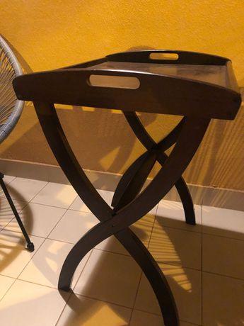 Mesa de apoio-tabuleiro em madeira