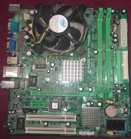 Продаю плату Biostar 945G micro 775 SE + проц