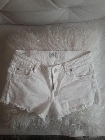 Pepe jeans szorty jeansowe xs białe