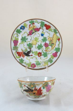 Taça/Tigela Porcelana Chinesa dec borboletas: Circa 1960; Marcada