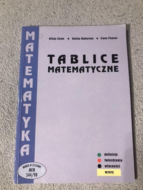 Tablice matematyczne- wydawnictwo Podkowa