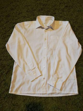Koszula biała, długi rękaw, rozm 158