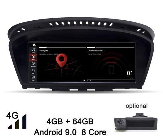 """Radio BMW Android 10 Série 5 E60 E61 e Série 3 E90 E91 ecrã 8,8"""" 64Gb"""