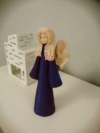 Aniołki doskonały prezent ręczna robota gips, lubdrewno