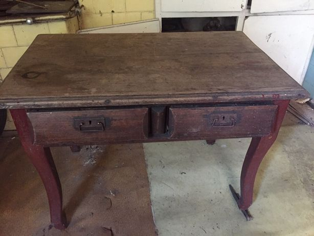 Stary dębowy stół 80 letni rustykalny antyk