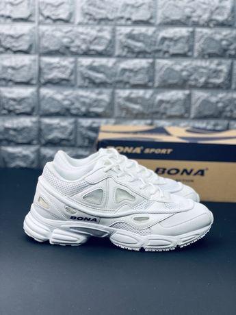 Кожаные белые кроссовки Бона, все размеры! Скидка! Bona Распродажа