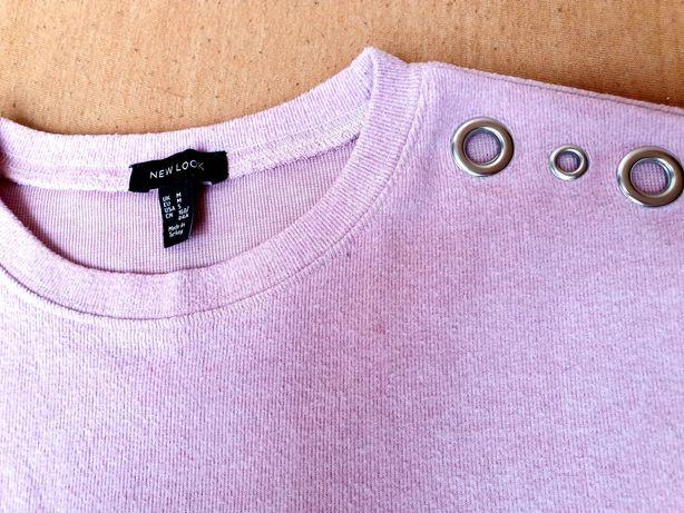 Bluzka różowa z ozdobnymi kółkami NEW LOOK z Zalando r M
