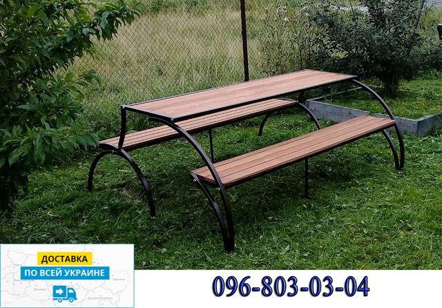 Стол с лавочками раскладные. Комплект садовой мебели трансформер