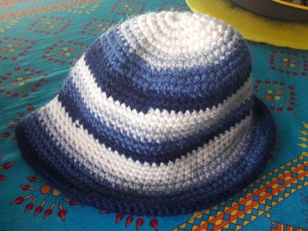Czapka kapelusz nowa tania na prezent ręcznie wykonana paski