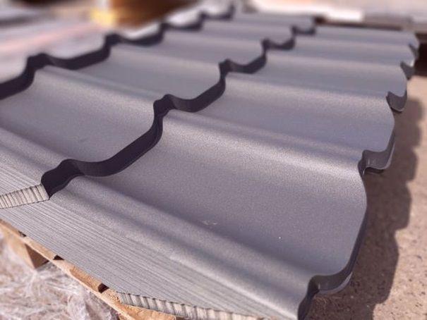 Blacho dachówka modułowa blachodachówka grafit mat - Promocja