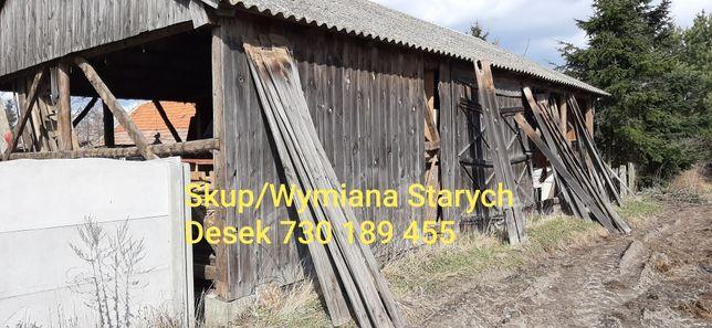 Stare deski stodoły rozbiórka wymiana na nowe lub blachę za darmo