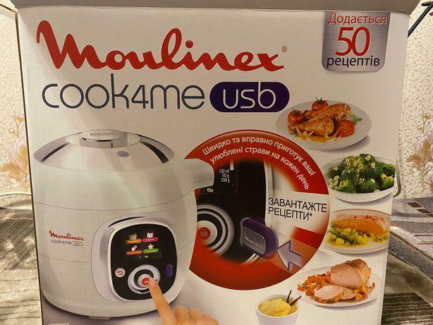 мультиварка-скороварка moulinex cook4me ce7021 32 usb