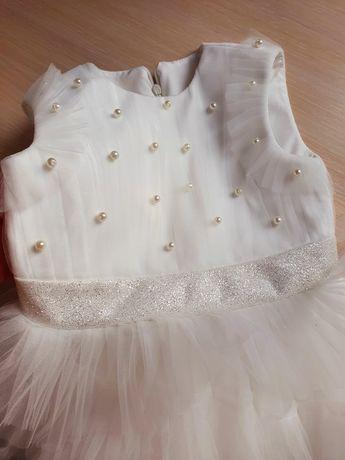 Платье для девочки. Костюм снежинки