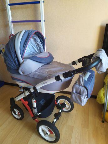 Детская коляска-трансформер Adamex Galactic Rainbow