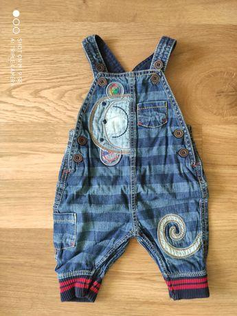 Spodnie ogrodniczki jeans rozmiar 62