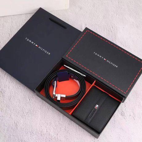 Мужской подарочный набор/кошелек/ремень Tommy Hilfiger чоловічій набір
