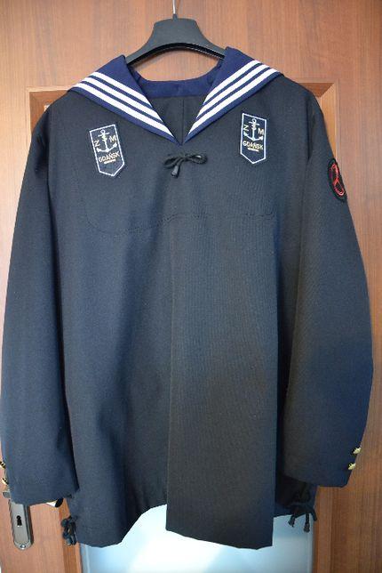 Bluza marynarska z kołnierzem i emblematami